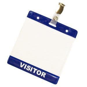 Pack of 25 Visitor Wallets and Clips for Visitor Passes